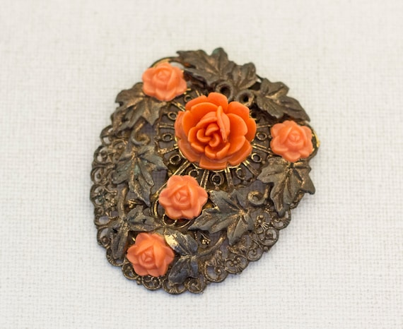 Large Floral Victorian Hair Clip, Large Hair Clip… - image 3