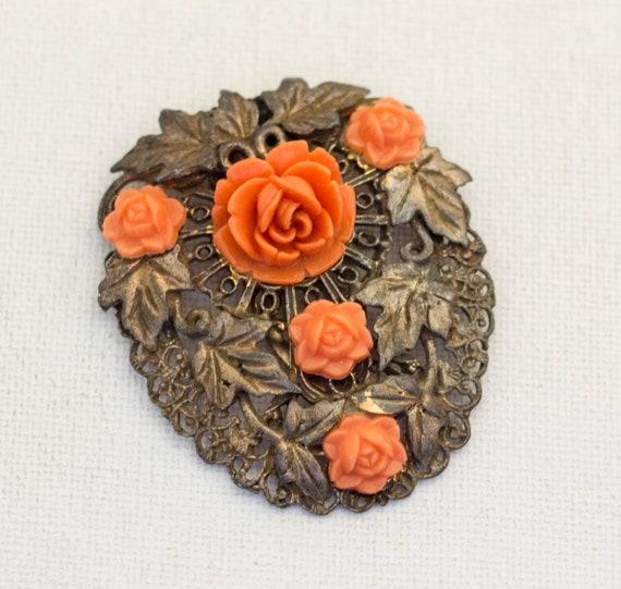 Large Floral Victorian Hair Clip, Large Hair Clip,