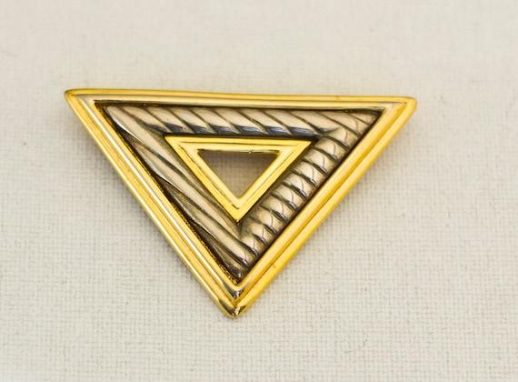 Large Triangle Brooch, Large Brooch, Triangle Broo