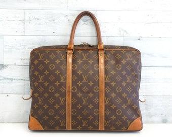 Authentic LOUIS VUITTON Monogram Porte Documents Voyage Business Briefcase  Handbag LV Travel Purse Large Luggage Satchel Vintage YO4882 f11680329287a