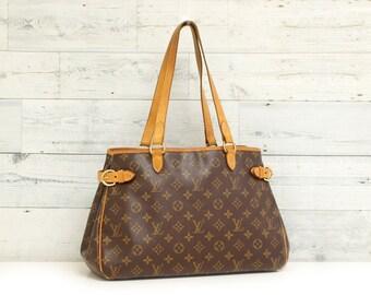 Authentic LOUIS VUITTON Monogram Batignolles Horizontal M51154 Shoulder Bag  LV Handbag Purse Tote Satchel Vintage Rs0750 b8be476ff8