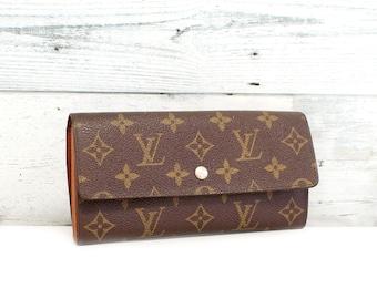 a0bf47ddcc6e Authentic LOUIS VUITTON Monogram Portefeuille Sarah Long Wallet Purse  Vintage YO5037