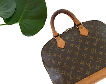 Authentic LOUIS VUITTON Monogram ALMA Handbag Bag Purse Satchel Lv Vintage YO6464