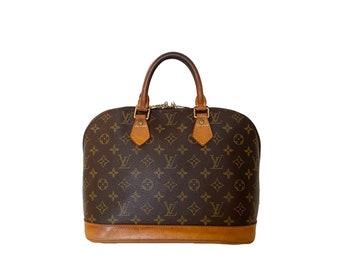 Authentic LOUIS VUITTON Monogram ALMA Handbag Bag Purse Satchel Lv Vintage YO6485