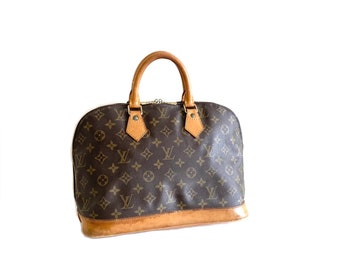 Authentic LOUIS VUITTON Monogram ALMA Handbag Bag Purse Satchel Lv YO6408