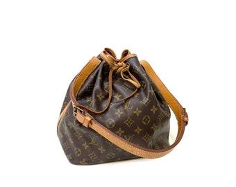 Authentic LOUIS VUITTON Monogram NOE Petit Shoulder Bag Purse Bucket Bag Handbag Satchel Vintage YO6351