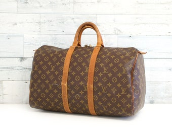 b68a424dd6 Authentic LOUIS VUITTON Monogram KEEPALL 45 Travel Luggage Bag Satchel  Handbag Duffel Large Purse Vintage YO4873
