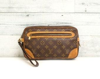 Authentic LOUIS VUITTON Marly Dragonne GM Monogram Clutch Handbag Bag  Wristlet Purse Evening Bag Pouch Vintage Yo4844 26cfea67e714b