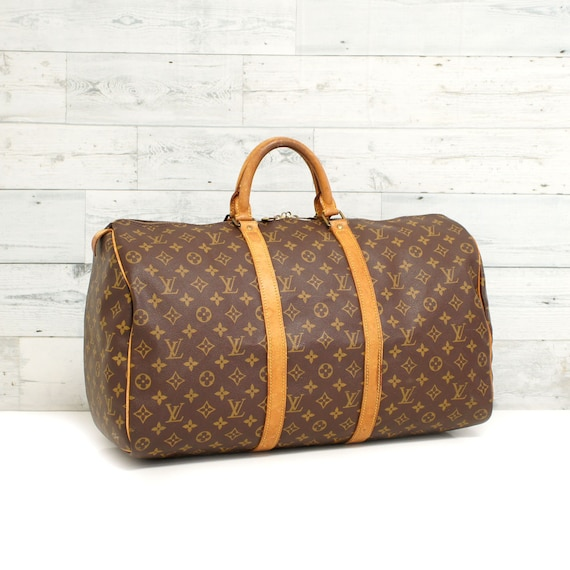 a31235e73279 Authentic LOUIS VUITTON Monogram KEEPALL 50 Duffel Luggage Bag