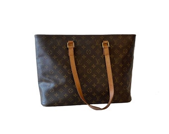 Authentic LOUIS VUITTON Monogram LUCO Handbag Purse Tote Shoulder Bag Lv Vintage YO6438