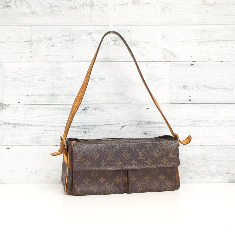 Authentic LOUIS VUITTON Monogram Viva Cite MM Shoulder Bag  a03549fe370d2