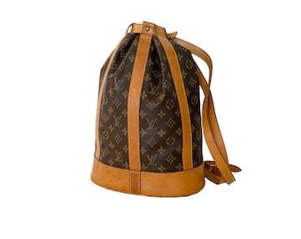 Authentic LOUIS VUITTON Monogram Randonnee PM Handbag Shoulder Bag Backpack Vintage 90's Lv YO6487