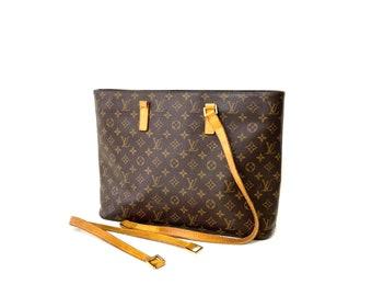 Authentic LOUIS VUITTON Monogram LUCO Handbag Purse Tote Shoulder Bag Lv Vintage YO6298 *Repair Needed