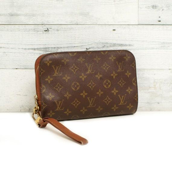 Authentic LOUIS VUITTON Monogram ORSAY Wristlets Clutch Bag  461aa70853aec