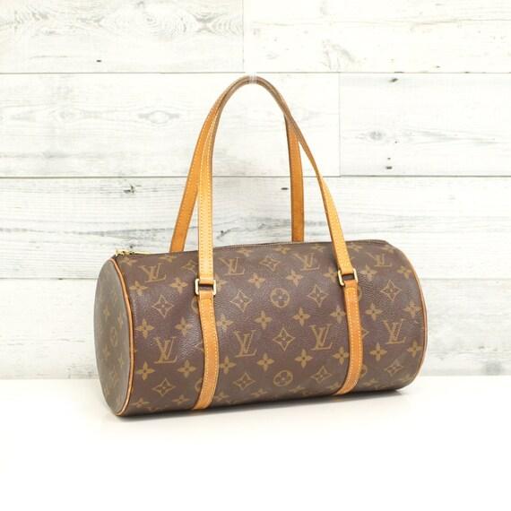 Authentic LOUIS VUITTON Monogram Papillon 30 Handbag Satchel  698ea5d6efad4