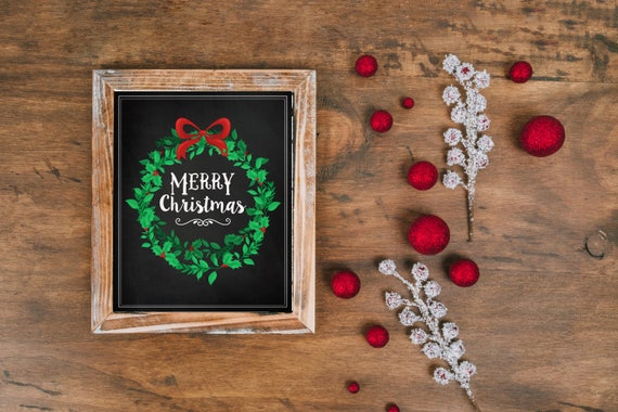 Personalised Christmas Photo Cards Print Your Own or We Print Chalkboard