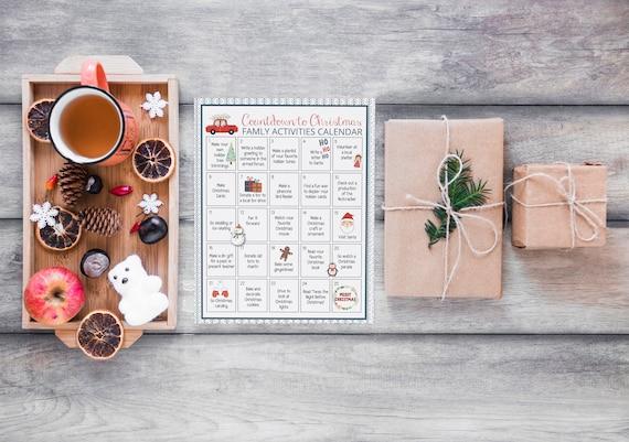 Christmas Activities Calendar for Families Printable Kids
