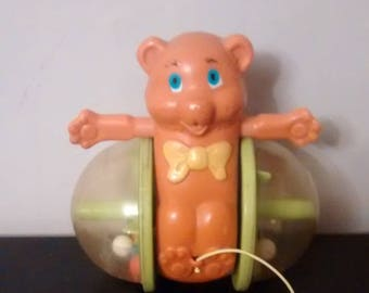 Vintage 1978 Fisher Price Bear Pull Toy #642