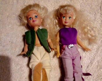 Vintage Lot Of 2 Kid Kore Dolls