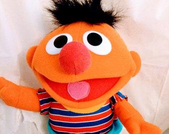 Vintage Tickle Me Ernie Doll 1996 Tyco Stuffed Toy Sesame Street Jim Henson Works Great