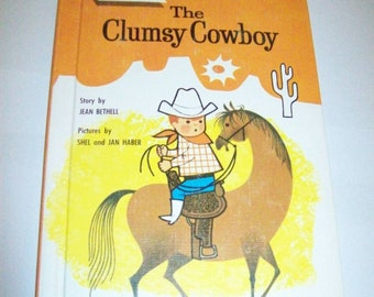 Wonder Books: The Clumsy Cowboy by Jean Bethell (1963, Hardcover) Like New