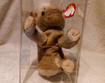 a944f656b93 Ty Beanie Baby Scat the Cat Ultra Super Rare Retired Misspellings Error MWMT