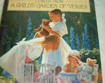Vintage Leaves from a Child's Garden of Verses by Robert Louis Stevenson HC DJ Poetry 1993