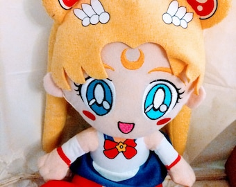 "Plush Toy Sailor Moon 12"" Sailor Moon (Like New)"