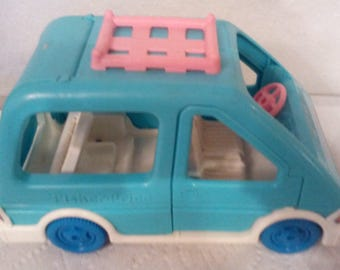 Vintage Fisher-Price Van Loving Family Dollhouse Van