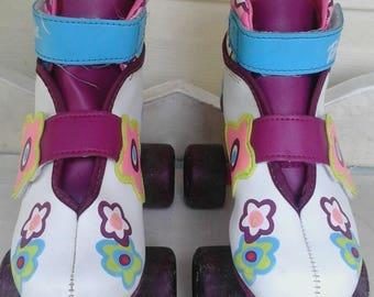Vintage Barbie Roller Skates 1998 Exellent Shape Size 3