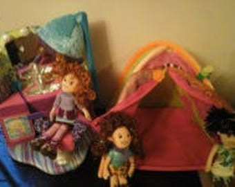 Vintage Groovy Girls Totally Tentastic Tent And Sittin Pretty Beauty Salon As Well As 3 Groovy Girls