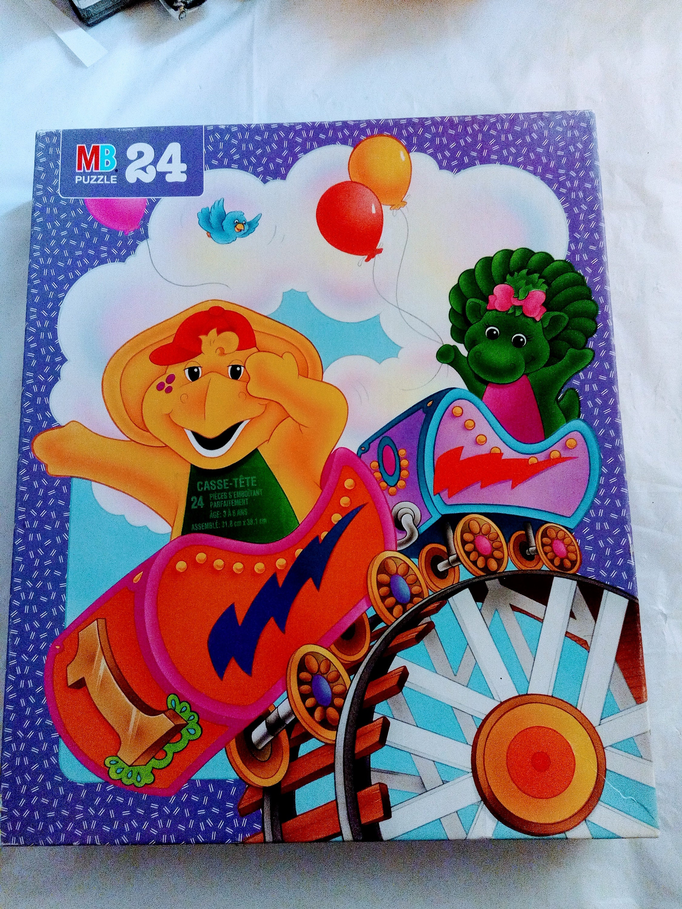 Vintage Barney 24 Piece Puzzle BJ and Baby Bop 12 1/2 | Etsy