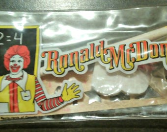 Vintage Ronald McDonald Pencil Set 1984 Complete,NEW,Never Been Opened