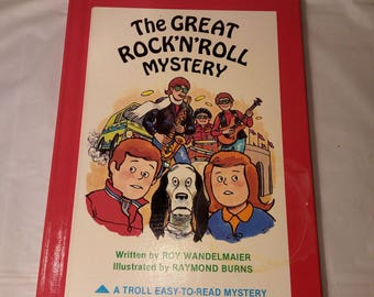 The Great Rock 'N' Roll Mystery (Easy to Read Mysteries) HC – February 1, 1985 (like new)