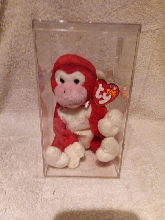 a1446696adf Beanie Baby Ty Plush Animal Valentine Monkey MINT W TAGS