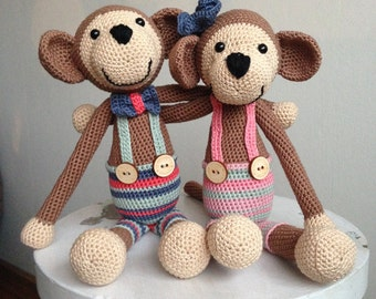 Beautiful monkeys, as a set or per piece. (boy and/or girl)