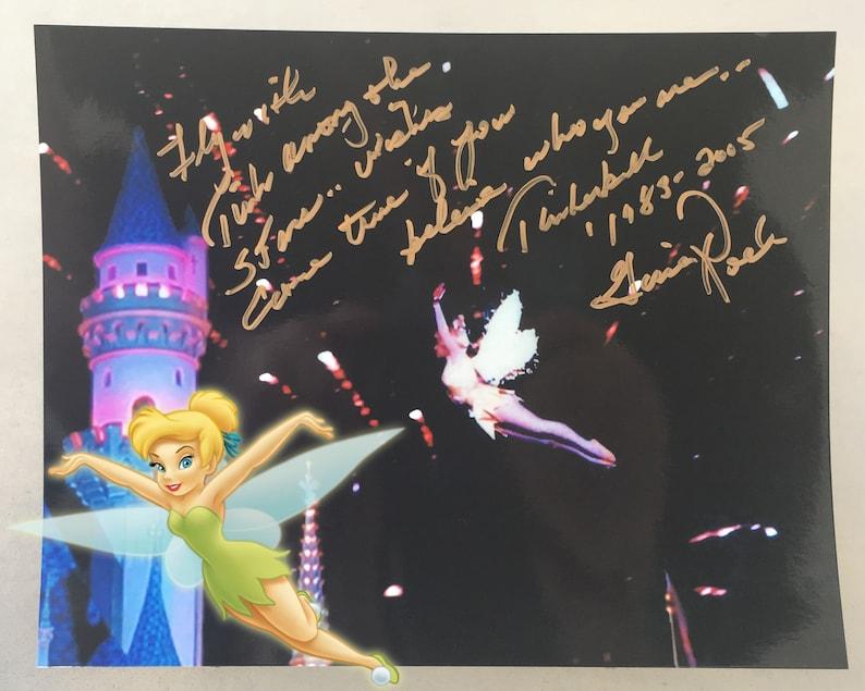 8x10 Tinker Bell Autograph Signature Photo Gina Rock image 0