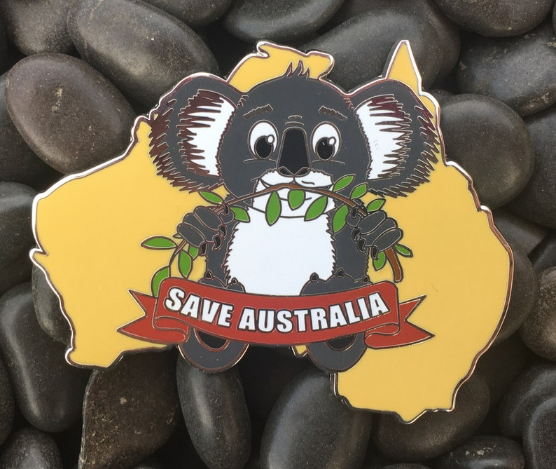 Lewis The Koala Save Australia Enamel Pin 4 Pins