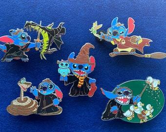 Wizard Stitch Disney Fantasy Pin