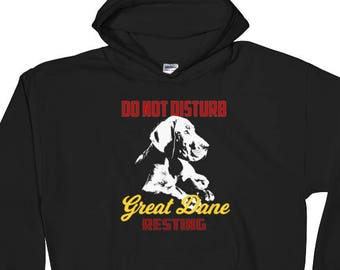 Great Dane Print Coolest Print Dog Lovers One Of A Kind Hoodie Unique Saying Gift Hoodie