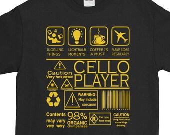 Cello Playing Organic Funny Cellist Organic Cello Mom Amusing Print Cello Shirt