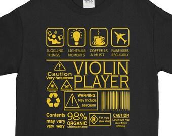 a818bada Funny Violin Organic Print Coolest Violin T shirt Unique Violin Amusing  Violin 98% Organic Violinists