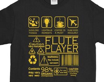 e622f6fb0 Flute T shirt Organic Flute Print Coolest Flute Gifts Amusing Flute T shirt  Calming Music Funny Organic Print