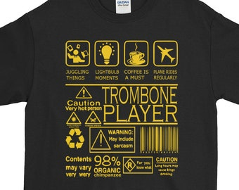Organic Trombone Funny Tee Trombone Player Amusing Trombone Best Unique Organic Tee Ideal Present