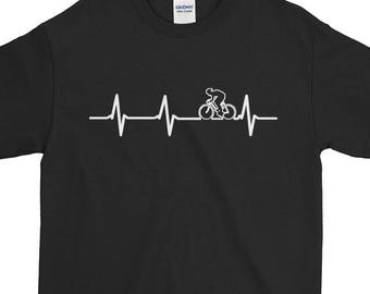 Bicycle Heartbeat Cycling Lovers Gift For Him Bike Riders Cycle All Day Best Birthday Gift Coolest Hobby