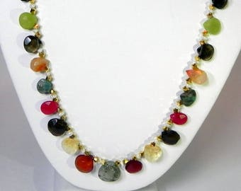 Stone and Sparkle Necklace