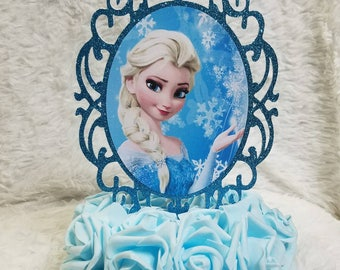 1 Pc Elsa Centerpiece Frozen CupCake Topper Cup Cake Birthday Decoration Theme