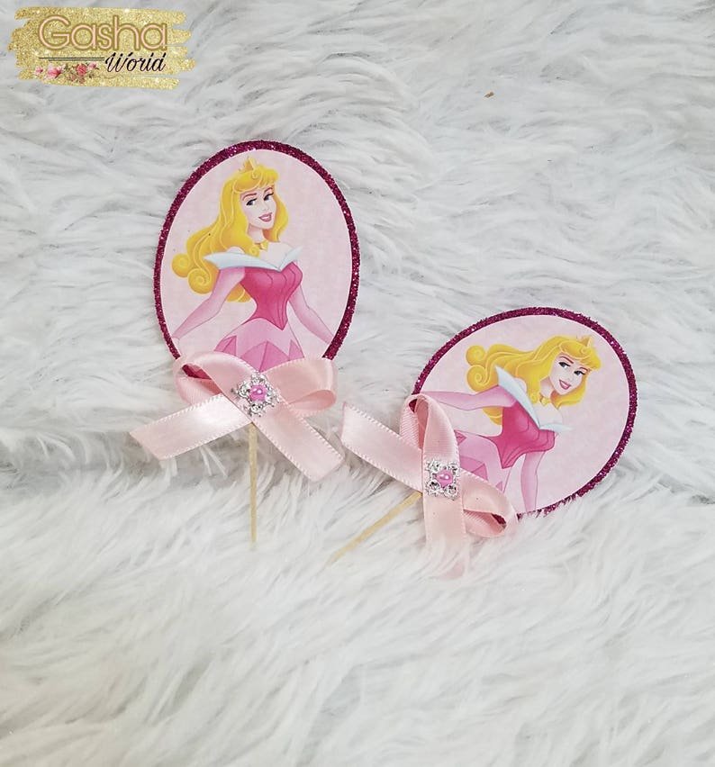 For Parties NEW Disney Princess Theme Character Cupcake Toppers x 24