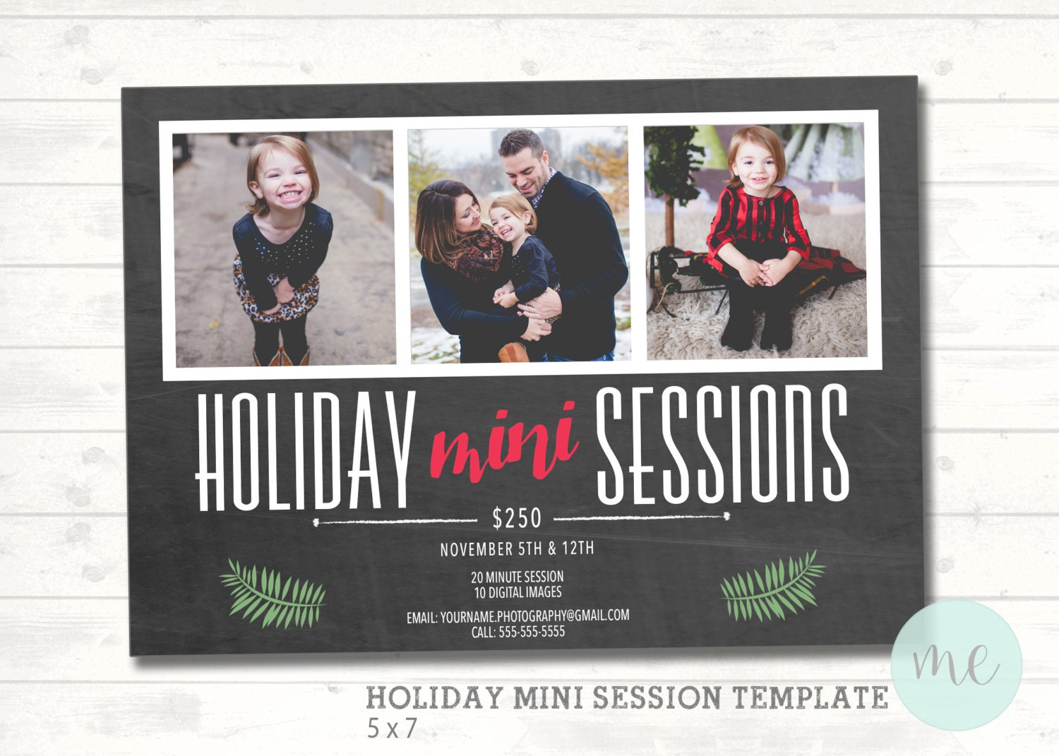 Christmas Mini Session Template. Christmas Photography | Etsy
