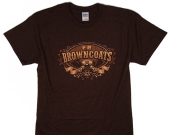 S - 3XL > FIREFLY inspired T-shirt for men > Browncoats / Brown coats